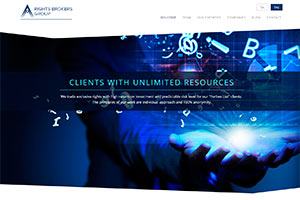 Site developing for broker company RIGHTS BROKERS GROUP