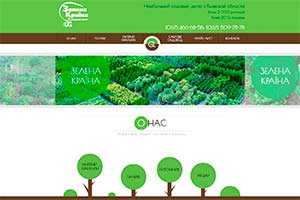 Website for landscape design company